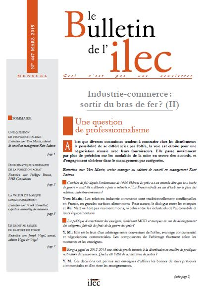 Industrie-commerce : sortir du bras de fer ? (II)